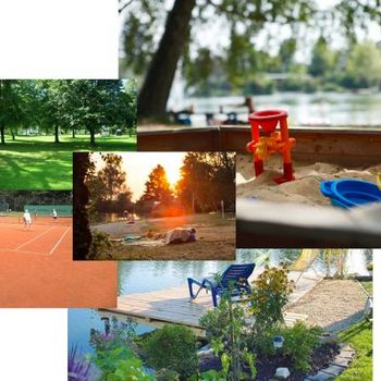Camping am See Augsburg in der Natur